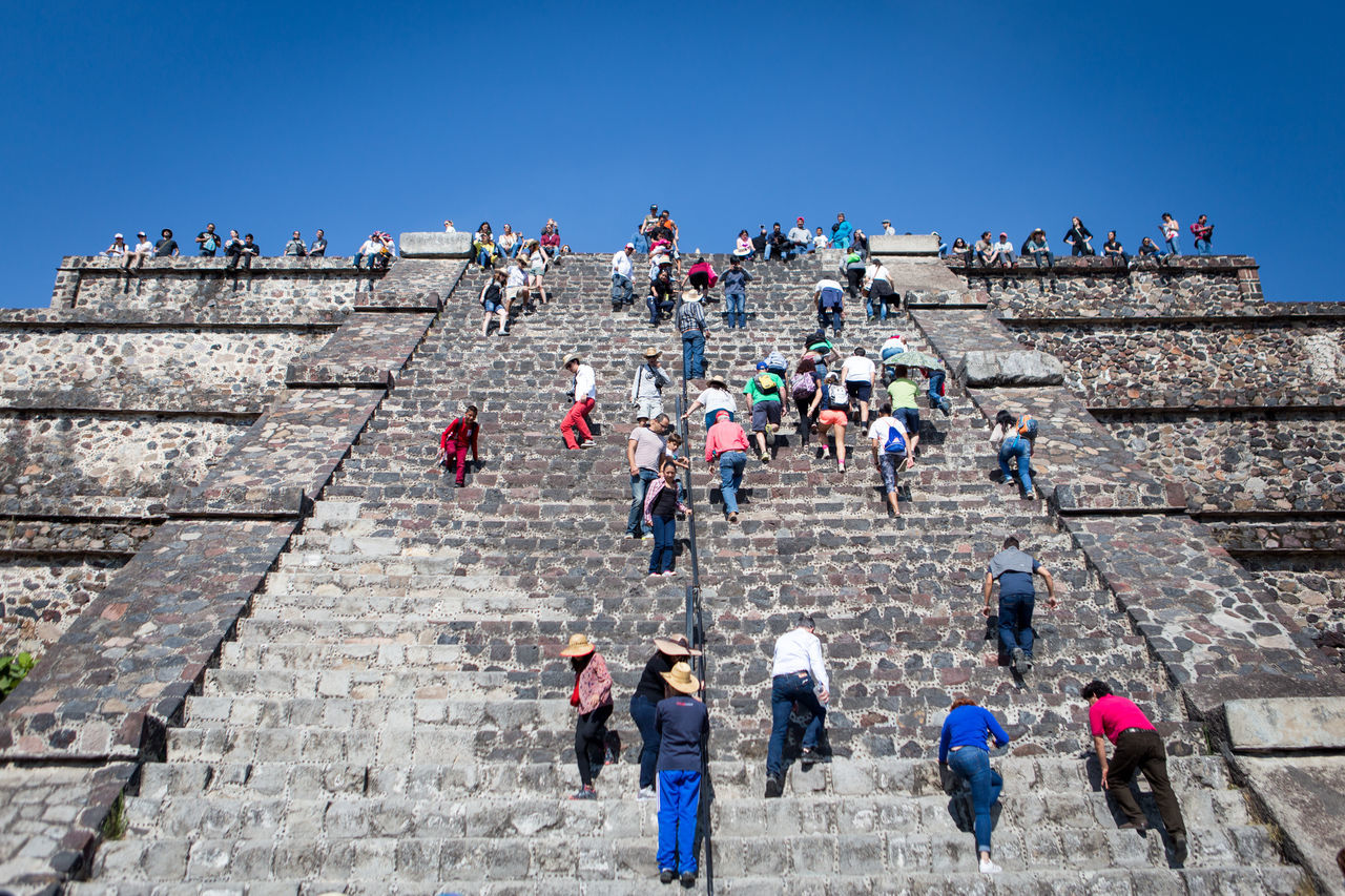 Architecture Crowd Day Historic Historic Sights Large Group Of People Mexico Mexico City Outdoors Pyramid Ruins S Teotihuacan Travel Destinations