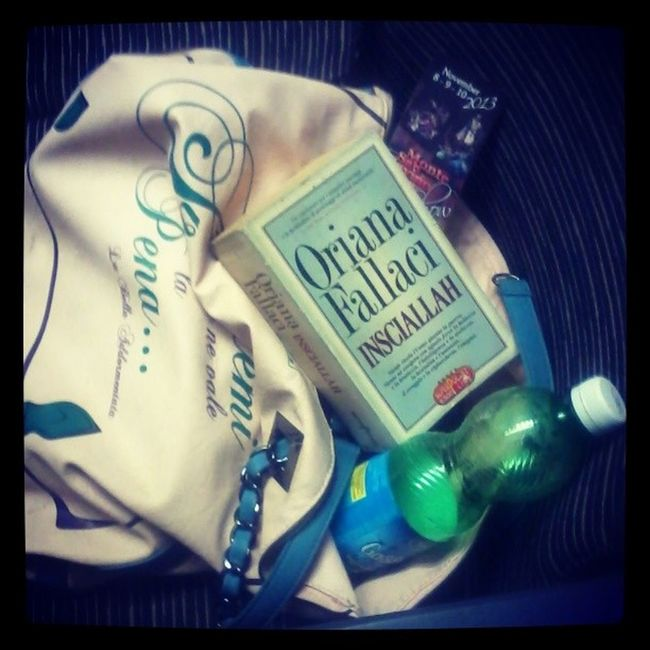 The best travel company ever: Insciallah , Montesansavinoshow2013 page marker, Sparklingwater and my fav Pandorine bag. Frecciabianca sucks.
