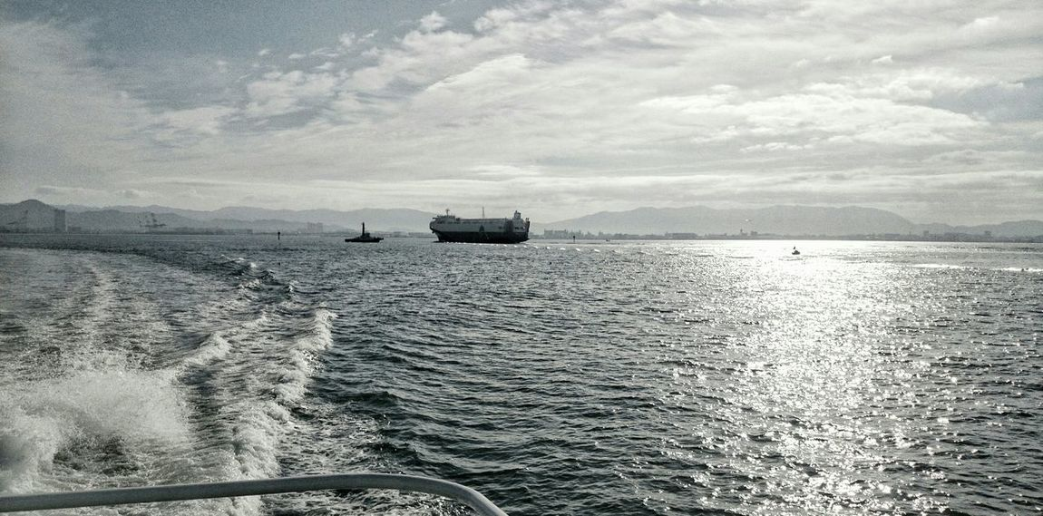 Sky And Sea Clouds And Sky Landscape On The Ship Glitter Water Surface Travel Photography In Hakata Enjoying Life