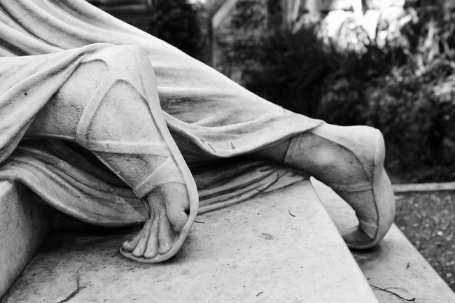 Outdoors Close-up One Person Human Body Part Women Day Adult People Human Leg Adults Only Low Section Statue Cemetery Cemetery Photography Black And White Travel Monochrome Italy Black & White Streetphoto_bw Monochrome Photography
