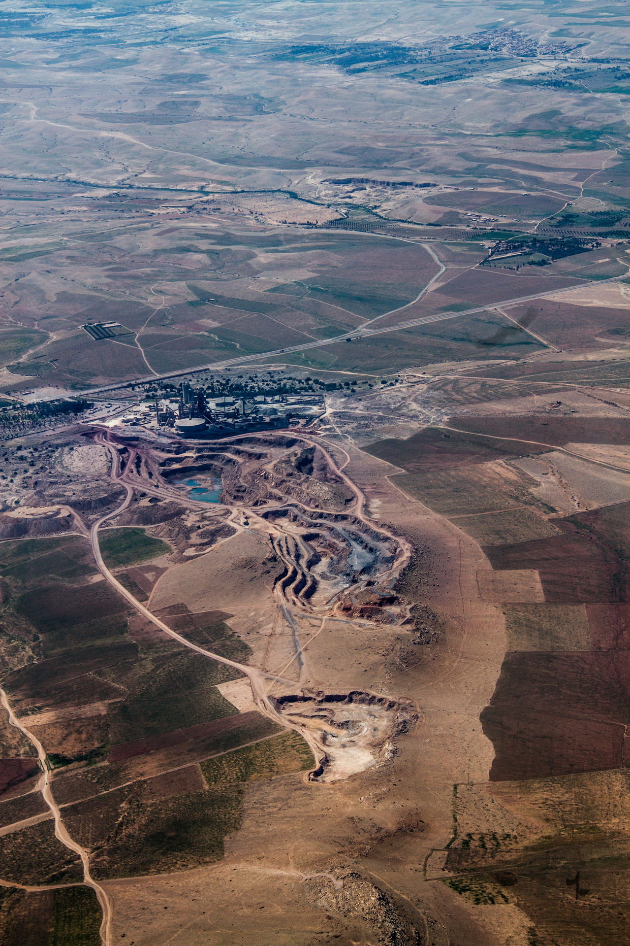 Aerial View Agriculture Arid Climate Business Finance And Industry City Landscape Mining Industry Outdoors Sand Scenics Travel World From Above