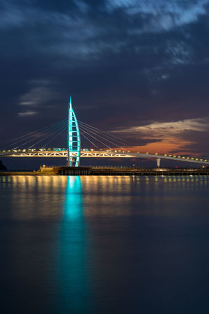 Architecture Bridge - Man Made Structure Built Structure Chain Bridge City Cloud - Sky Connection Engineering Illuminated Nature Night No People Outdoors River Sky Suspension Bridge Transportation Travel Travel Destinations Water Waterfront