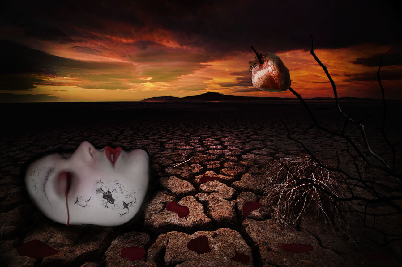 Sadness Sad Girl Sad Mask Bloody Sunset Bloody Face Story Behind The Picture Story Love Broken Broken Beauty Broken Dreams Broken Hearted Heart Heartless Blamed Judged Sick Sad World Me Memories Memories Photography Photoshop Edit