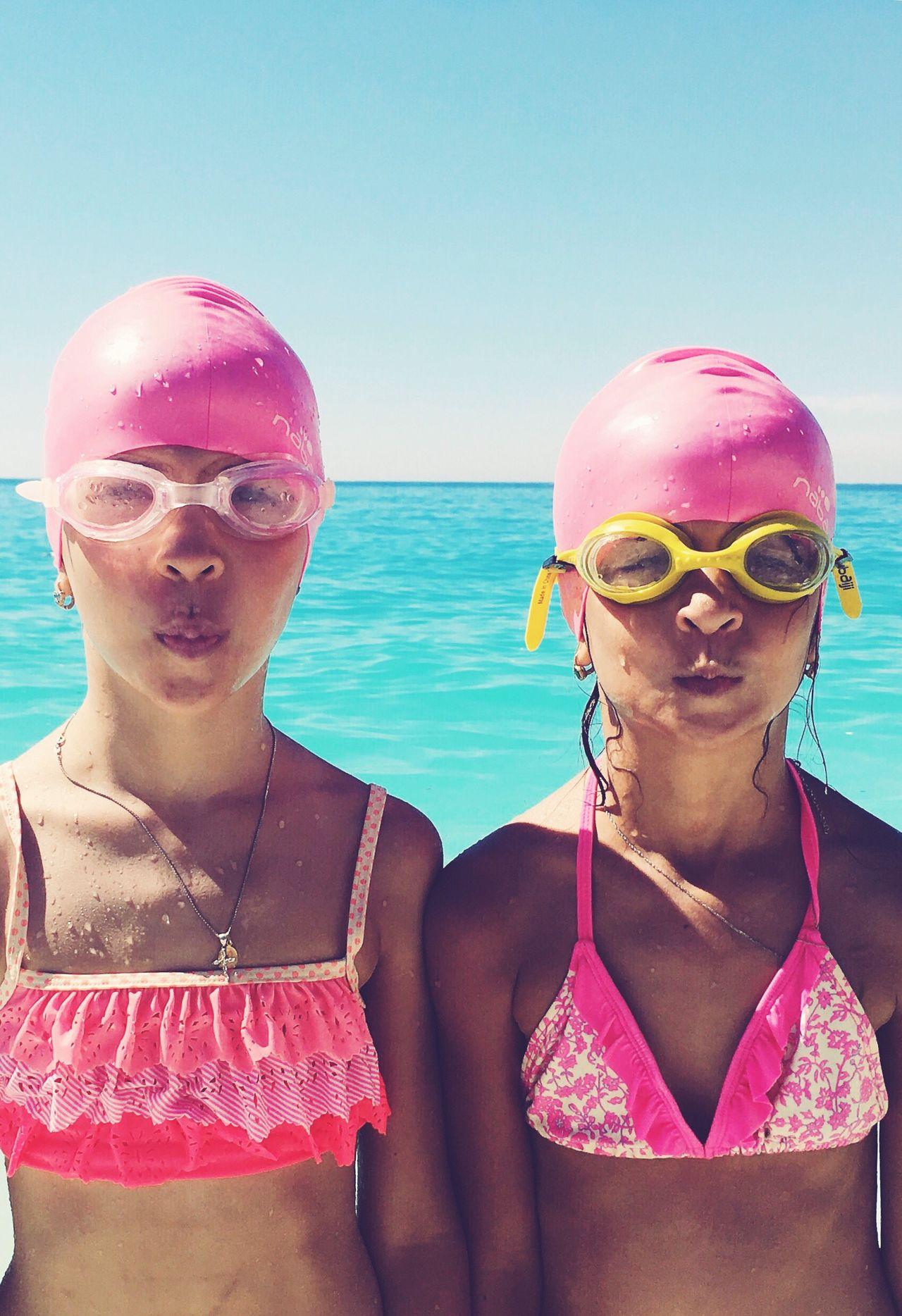 Girlsinpink Photography Sisters Sea And Sky Withmyfriends Beachphotography Retro August Greece Sun Blue Water Onthebeach Myrtosbeach Feelinghappy  Fresh On Eyeem