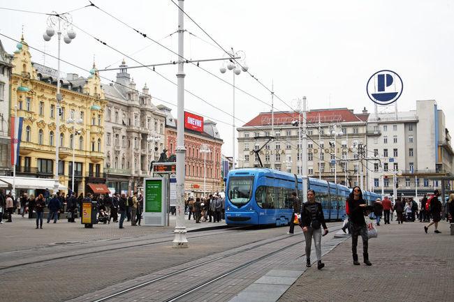 Jelacic's square,Zagreb's main square,Zagreb,Croatia,Europe,EU Architecture Autumn Building Exterior City Croatia Day Eu Europe Jelacic's Monument Jelacic's Square Main City Square Outdoors People Square Zagreb