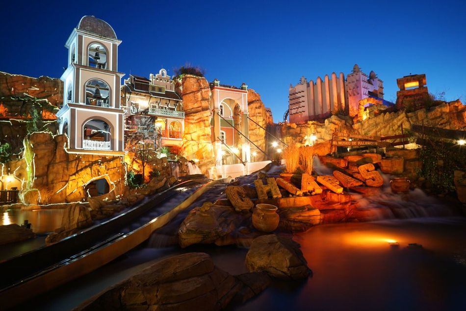Architecture Clear Sky Phantasialand Chiapas Outdoors EyeEmNewHere Theme Park Water Lights Mexico Ride Travel Destinations Sky Colors Color Colorful EyeEmNewHere EyeEmNewHere