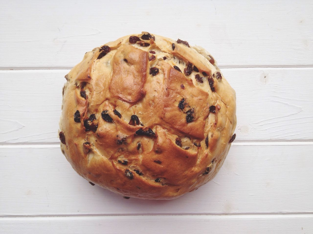 Food Loaf Raisins Bread Rosinenbrot Directly Above Round German Sweet Raisin Bread Currant Bread