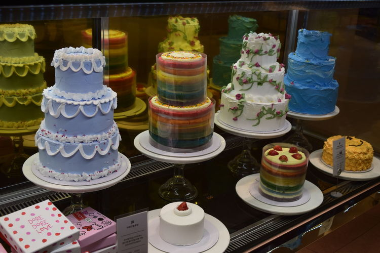 Blue Blue Color Cake Cakes Choice Cream Dessert Freshness Indoors  Nikon NIKON D5300 Nikonphotography No Edit/no Filter No Filter No Filter, No Edit, Just Photography No Flash No People Rainbow Rainbow Colors Sale Sweet Food White White Color