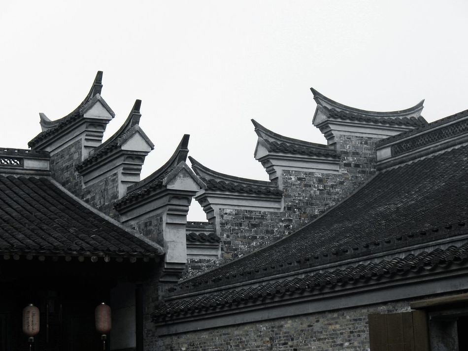 Architecture Building Exterior Built Structure China Clear Sky Day Low Angle View No People Outdoors Roof Sky Traditional Building Yangzhou