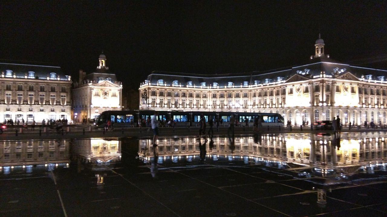 France Bordeaux Place De La Bourse Miroir D Eau