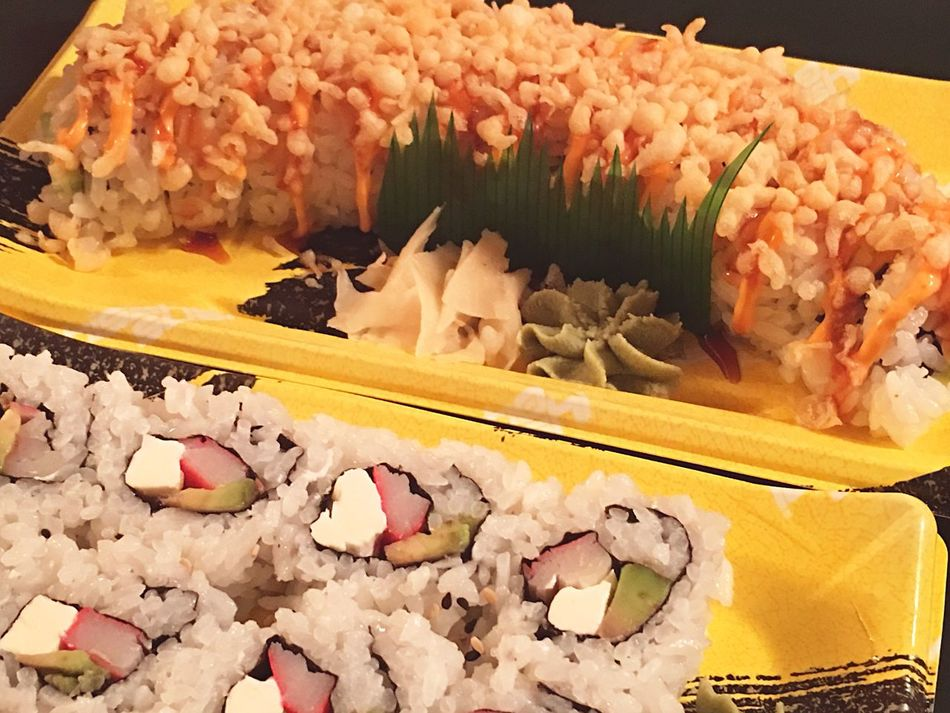 Sushi healthy eating Cleaneating Food And Drink Freshness Food Indoors  Indulgence Close-up Healthy Eating Temptation Sweet Food No People Ready-to-eat Day supermarket