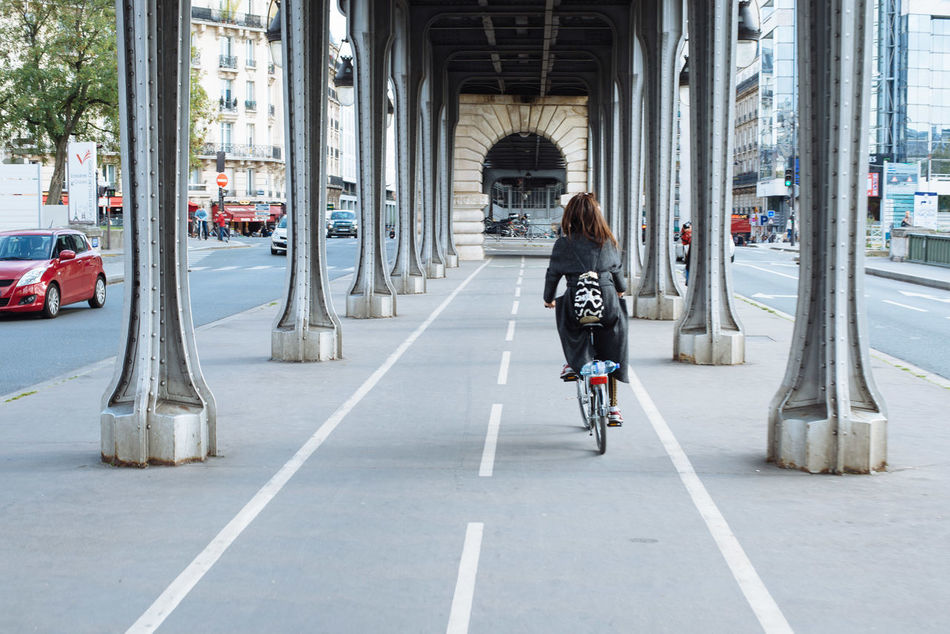 Beautiful stock photos of paris, Arch Bridge, Architecture, Backpack, Bicycle