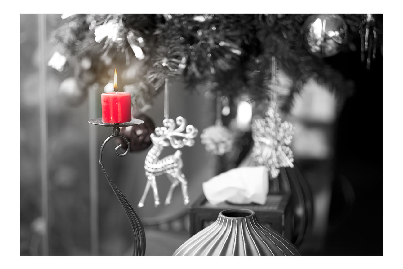Selective colour of candle. Candellight Candle Close-up Day Focus On Foreground Light, No People Red Red Select Color Selective Focus Still Life