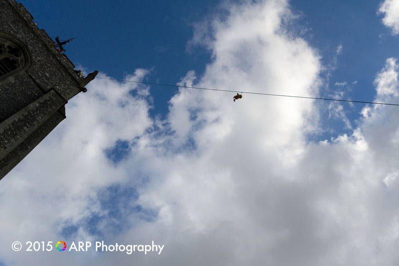 Teddy Bear zip wire for charity at Aylsham Church High Lookingup Clouds Clouds And Sky EyeEm Best Shots Eye4photography  Check This Out EyeEm Best Edits EyeEm Gallery This Week On Eyeem