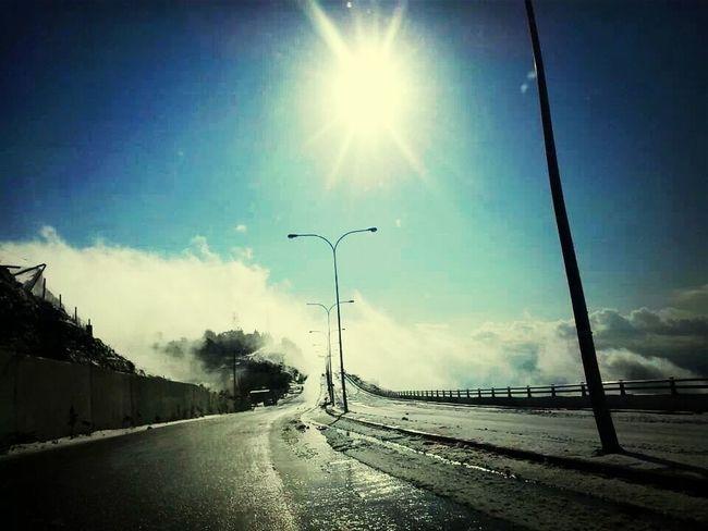 Clouds Sun Snow