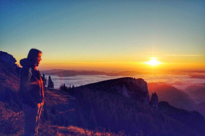 Sunset Sun Tranquil Scene Beauty In Nature Tourism Vacations Rock Formation Mountain Non-urban Scene Majestic Sunbeam Good Morning Panoramic Photography Long Goodbye