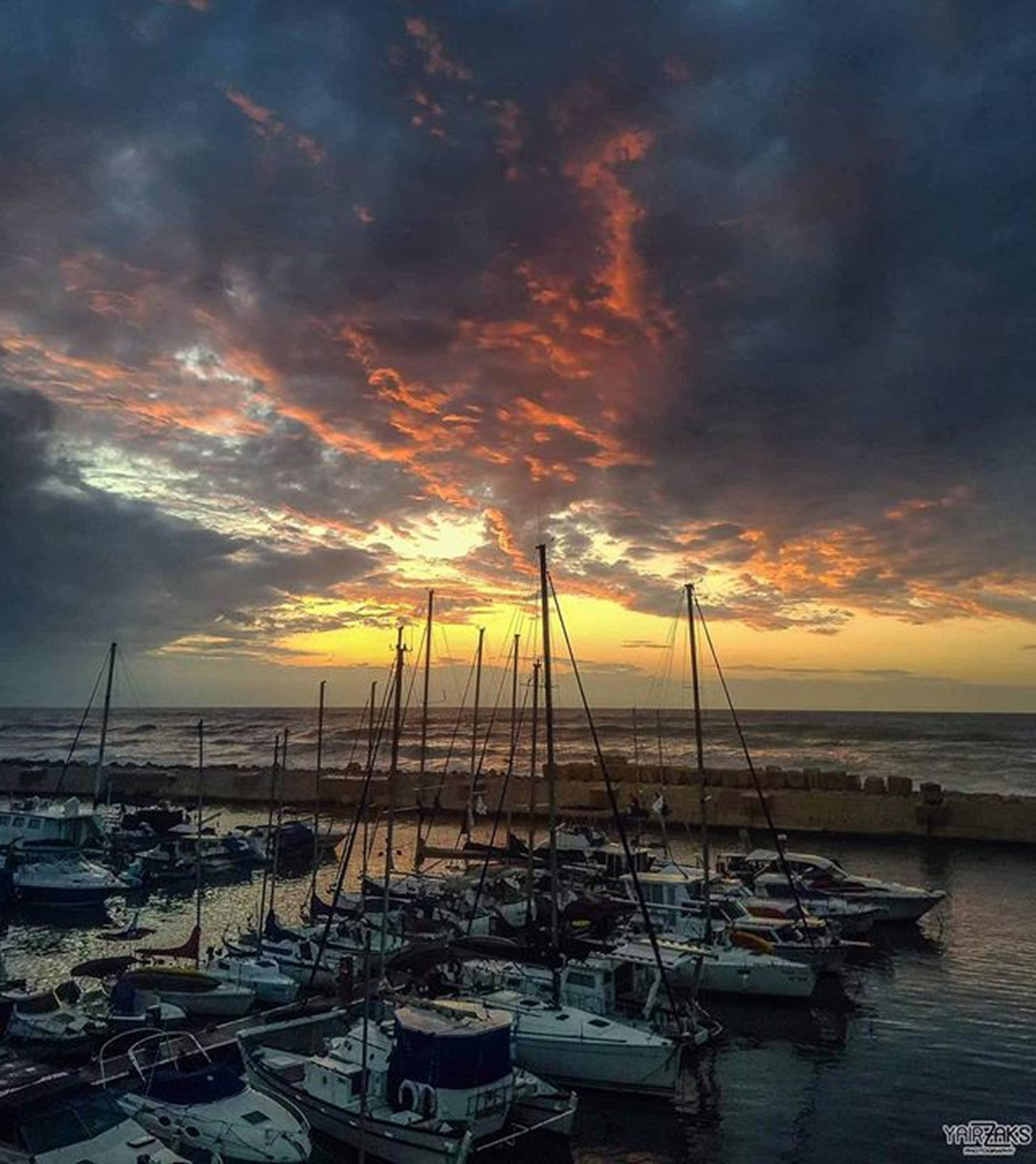 sunset, nautical vessel, water, sea, boat, sky, transportation, moored, mode of transport, cloud - sky, orange color, beauty in nature, scenics, tranquility, tranquil scene, horizon over water, cloudy, nature, beach, idyllic