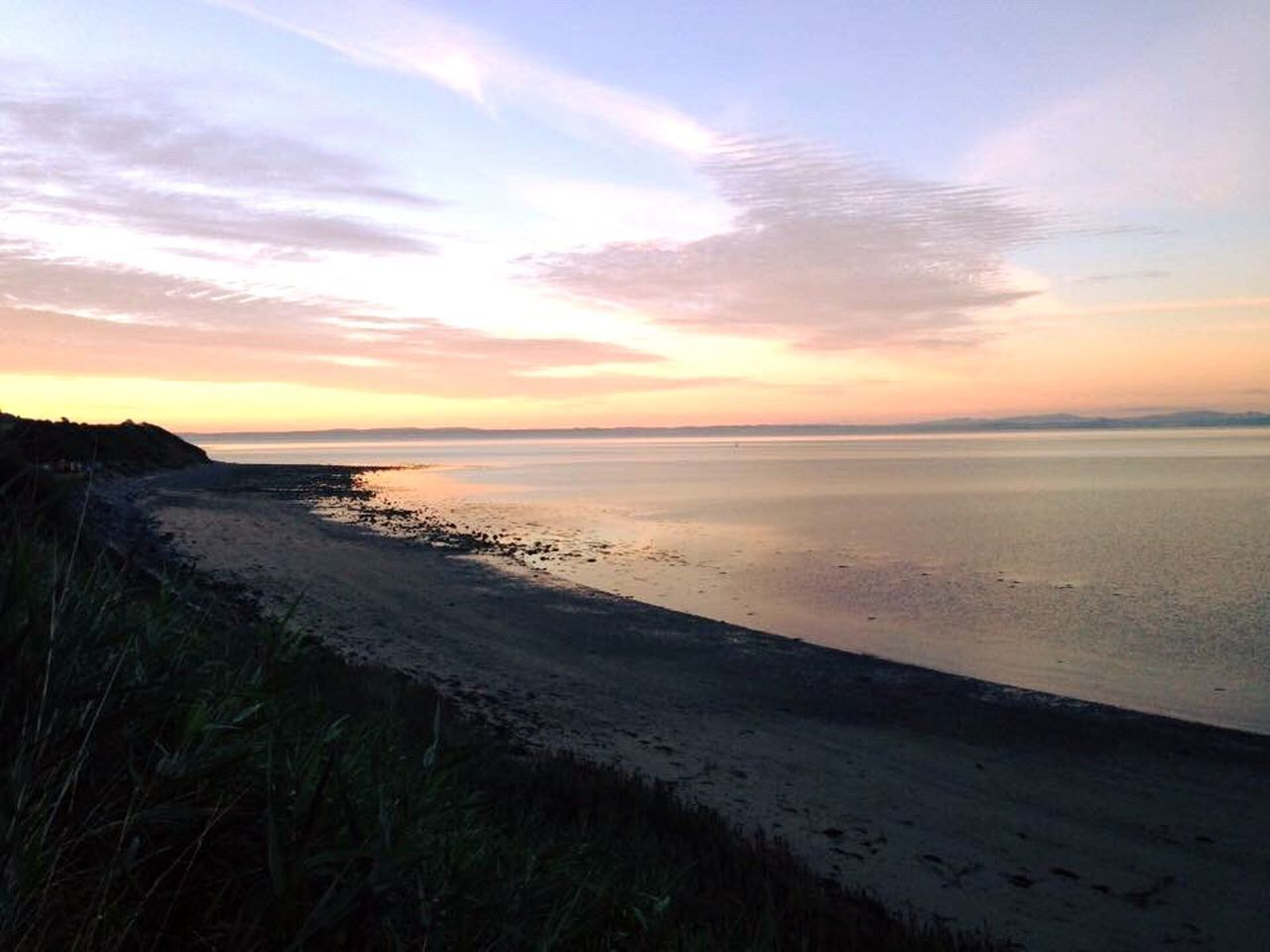 Sea Beach Horizon Over Water Sand Sunset Beauty In Nature Sky Nature Scenics Tranquil Scene Tranquility Shore Outdoors Water Cloud - Sky Idyllic No People Coastline Marram Grass Day Scotland Drummore