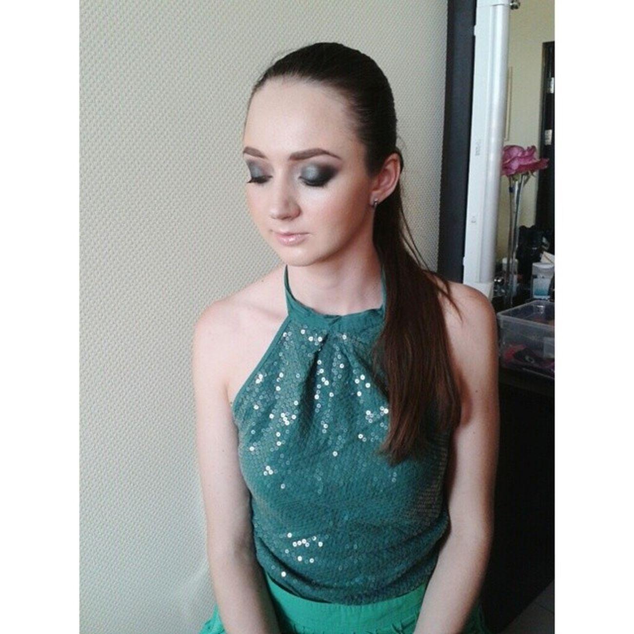 Моя кайфовая моделька, кто сказал,что русалочек не бывает?) Mua Makeup Totalgreen Smokey girl probeauty fashion evening