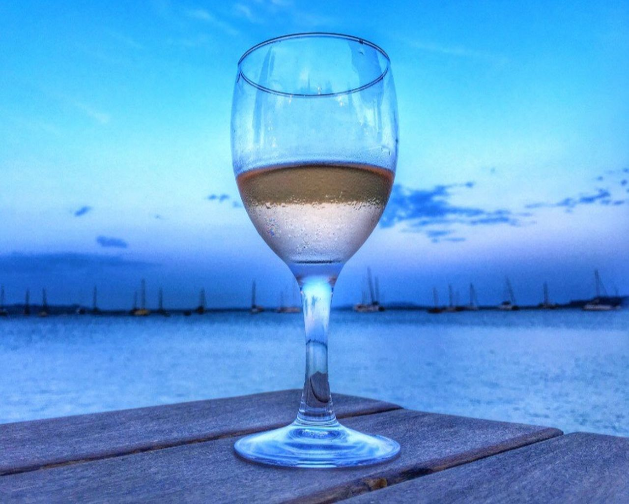 Wine Not Sky Drink Drinking Glass Food And Drink Sea Horizon Over Water Wineglass Wine Freshness