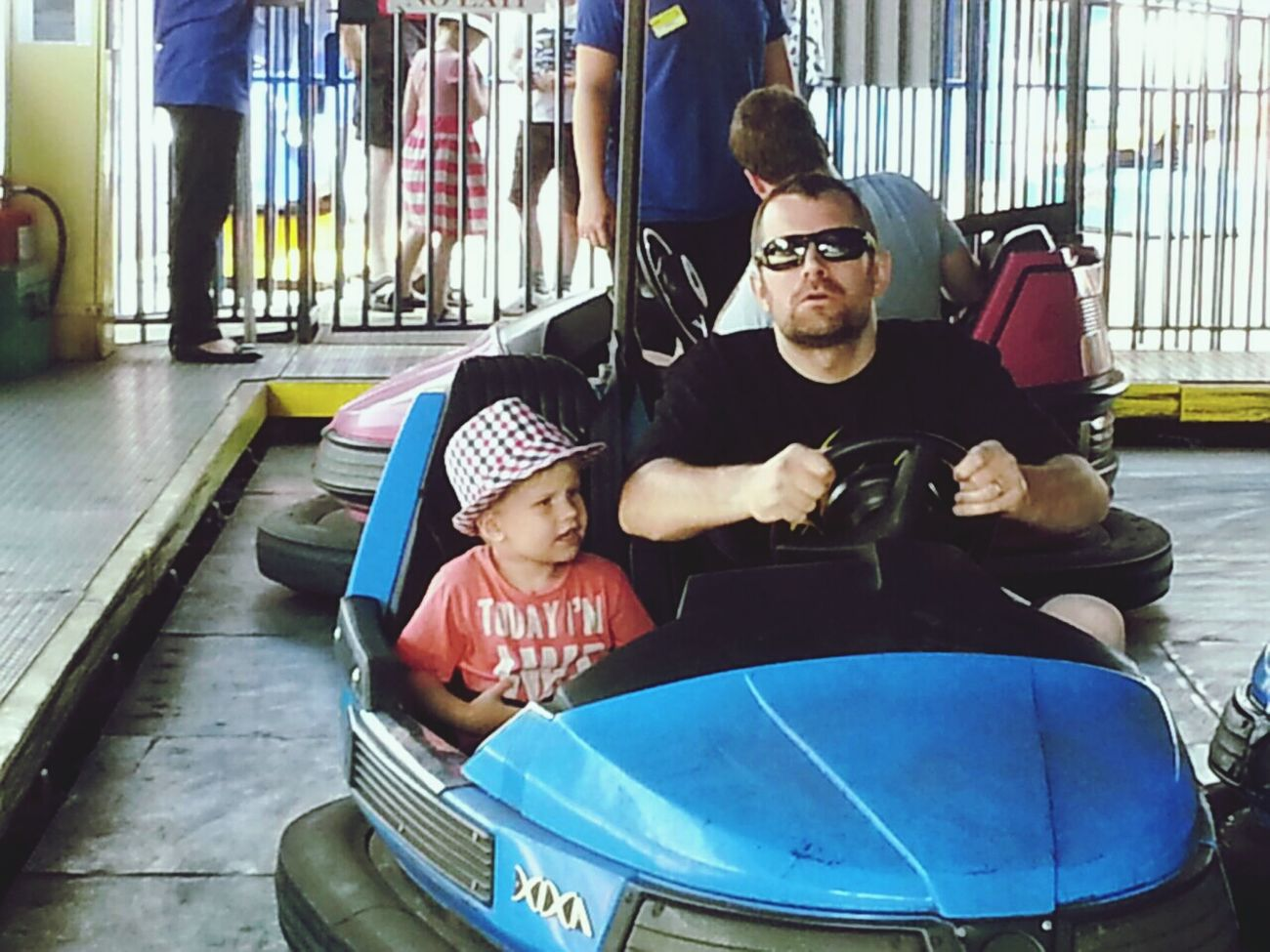 Fair Funfair Dodgems Father & Son