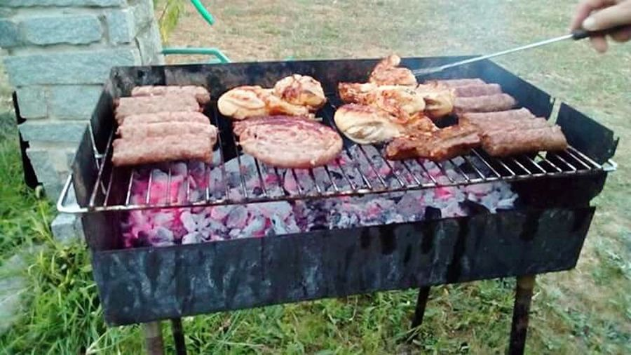 Brace Barbecue Barbecue Grill Grass Day Food Meat Stareinsalute Stareinsieme Grilled Relaxing Moments Relax Time