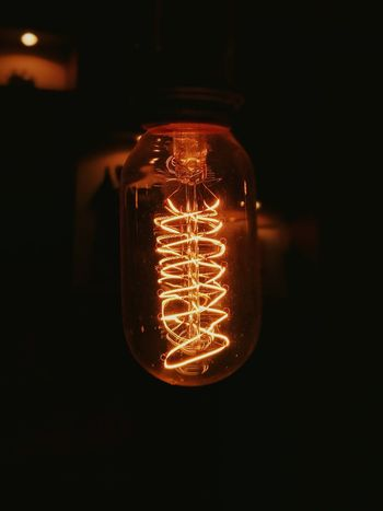 Electricity  Illuminated Lighting Equipment Light Bulb Filament Single Object No People Close-up Indoors  Modern Night Technology Indoors  Welcome To Black EyeEmNewHere