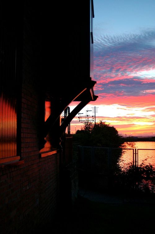 The Signal Box at Sunset Water Silhouette Architecture Sky Sunset Sea Outdoors Dramatic Sky Scotland Vibrant Color