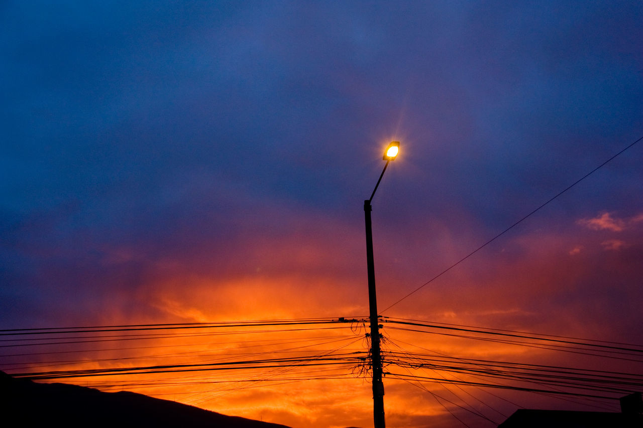 Atardecer Beauty In Nature Cable Cielo Cielo Y Nubes  Connection Day Electricity  Electricity Pylon Fuel And Power Generation Nature No People Orange Color Outdoors Power Line  Power Supply Quito Carita De Dios Quito City Quito Ecuador Silhouette Sky Sky And Clouds Sunset Technology Tranquil Scene