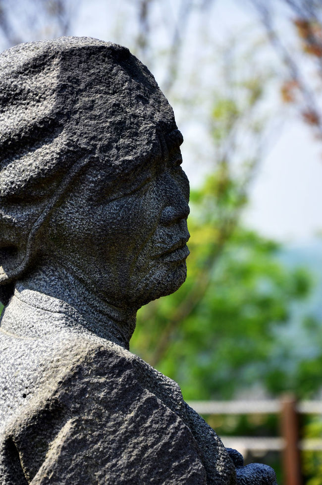 Close-up Mother Of Korea Mother Statue Outdoors Sculpture Garden Selective Focus