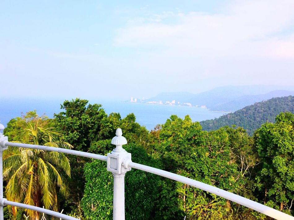A Different Perspective My Unique Style Lighthouse Penang Paradise Islandlife Monkey Beach Jungle Malaysia Nature View From Above The Great Outdoors Back To Nature Up Greenery Jungle Beach