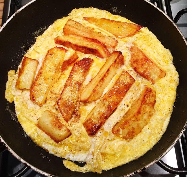 Chip Omelette Chips Eggs... Omelette
