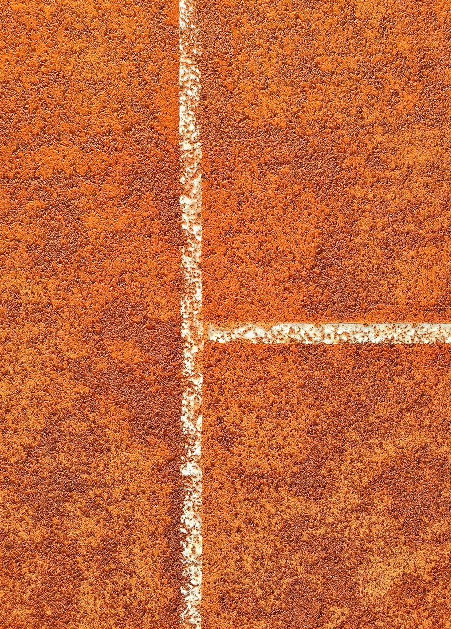 backgrounds, brown, running track, full frame, textured, track and field, day, sport, no people, pattern, outdoors, red, dividing line, paint, track event, sports track, marking, close-up, tennis