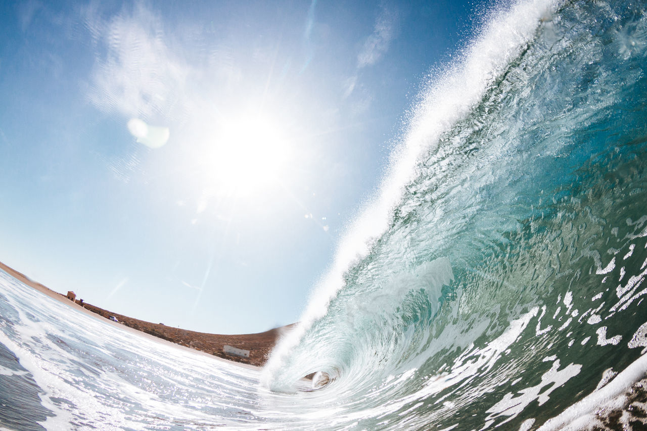 Beach Canary Islands Day EyeEm Nature Lover Fish-eye Lens Motion Nature No People Outdoors Power In Nature Scenics Sea Sea Life Summer Summertime Sun Sunlight Surf Surfing Tenerife Wave Wave Waves Waves Crashing Waves, Ocean, Nature