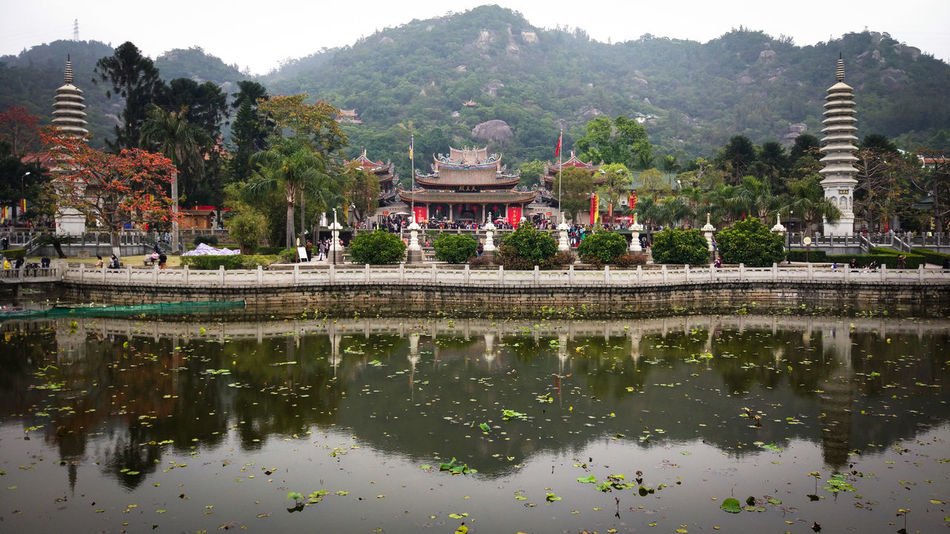 No People Outdoors Weekend ♥ MIphotography Reflection Temple Tranquility