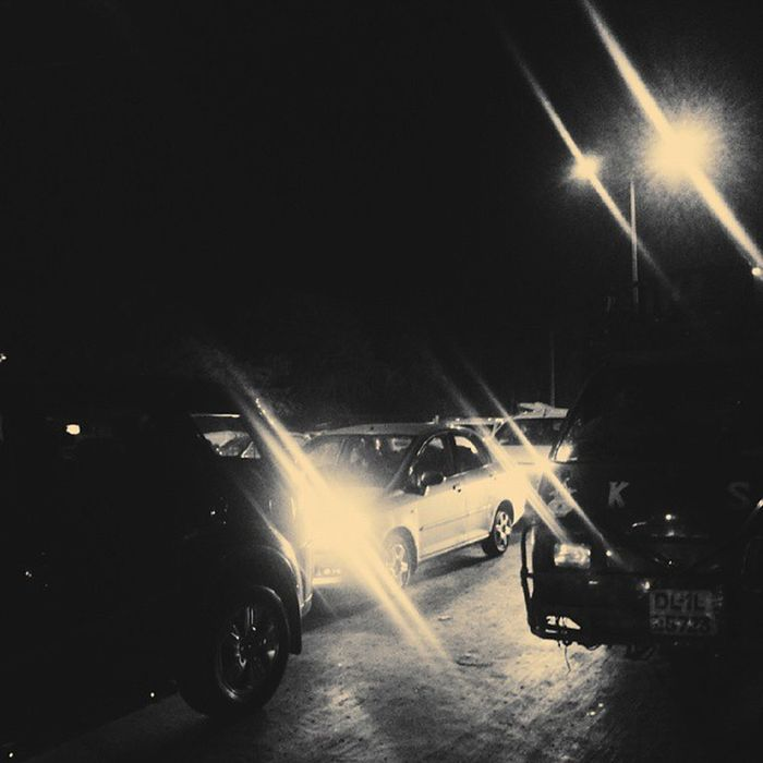 Traffic with lights - by Live Life Moments Streetphotography Photography Blackandwhite Car Carlights Streetlights Lights Traffic _llm Delhi Instapic Instaclick Streetgram Live_lifemoments