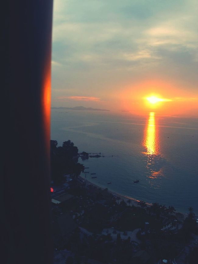 Tailand Pattaya Hotelroomview Sunset