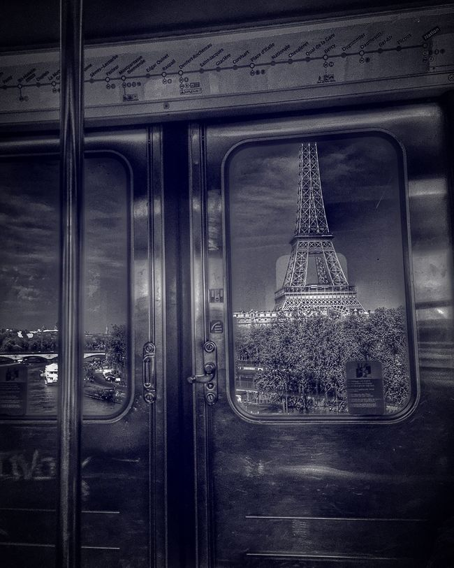 LAST TRAIN TO PARIS Dramatic Sky Architecture Eiffel Tower Taking Photos EyeEm HDR Art, Drawing, Creativity Photography Light And Shadow EyeEm Best Shots Clouds And Sky Colorful France Sunlight Paris Darkness And Light Tour Eiffel Subway View Sunset Streetphotography Blackandwhite Downtown Building Colors