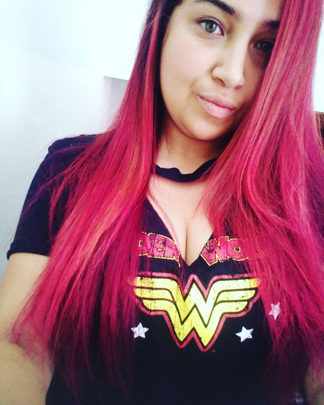Wonderwoman💪 Followme Followmyinstagram Firefox_anna8 Follow My Facebook @AnnaFortin Selfie Red Hair Manicpanic Looking At Camera Popular Model Young