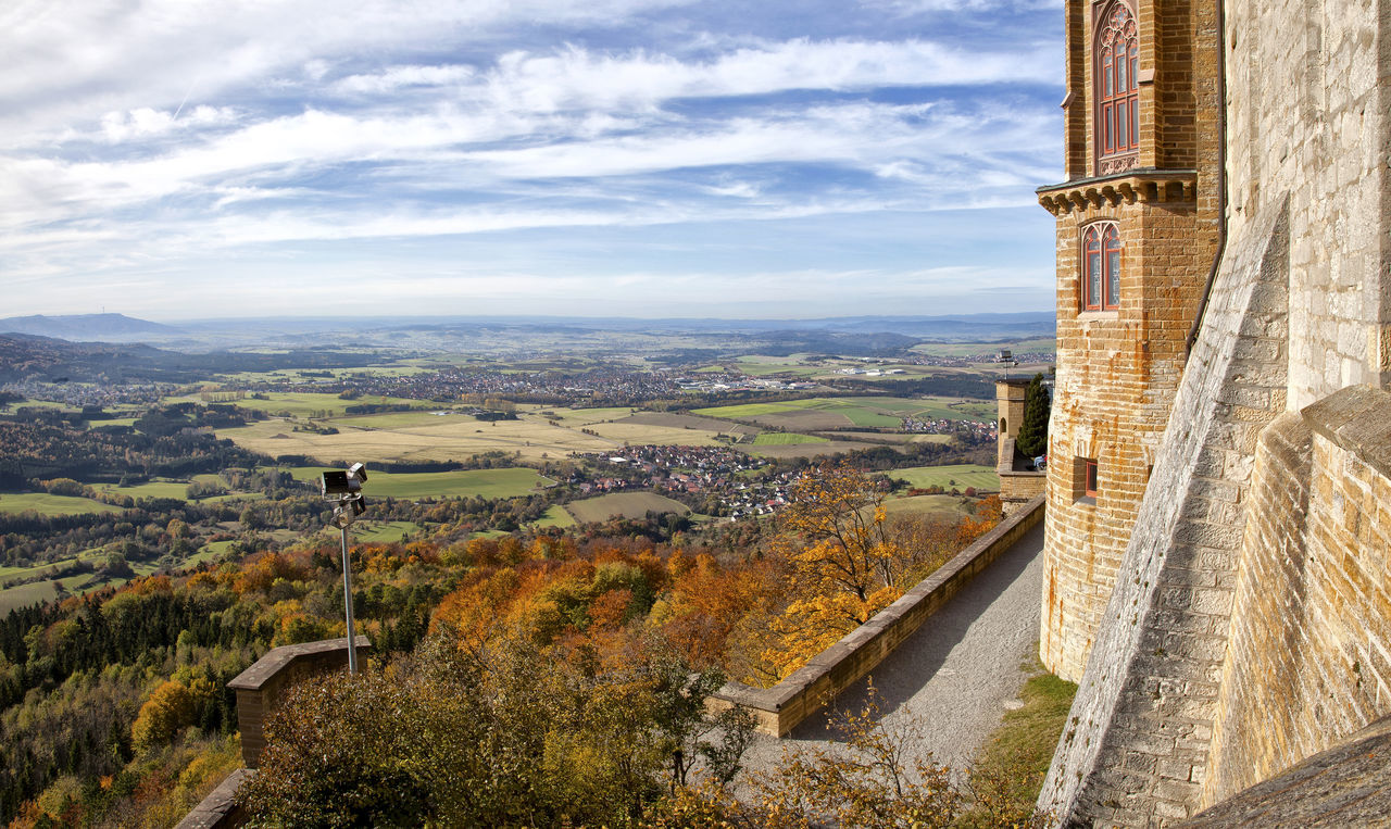 Hohenzollern Castle outlook Autumn Autumn Leaves Castle Historic History Hohenzollern Castle Landscape Majestic