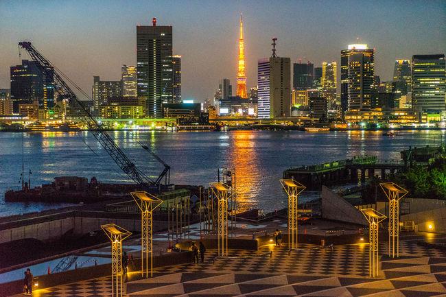 Harumi in Tokyo Nightphotography Night Photography Landscape Landscape_Collection Landscape_photography Seaside Seascape Night Lights Eye4photography  EyeEm Best Shots Tokyo Tower
