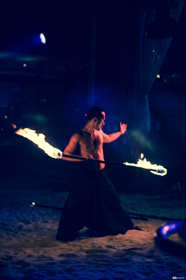 Fire, fire dancer