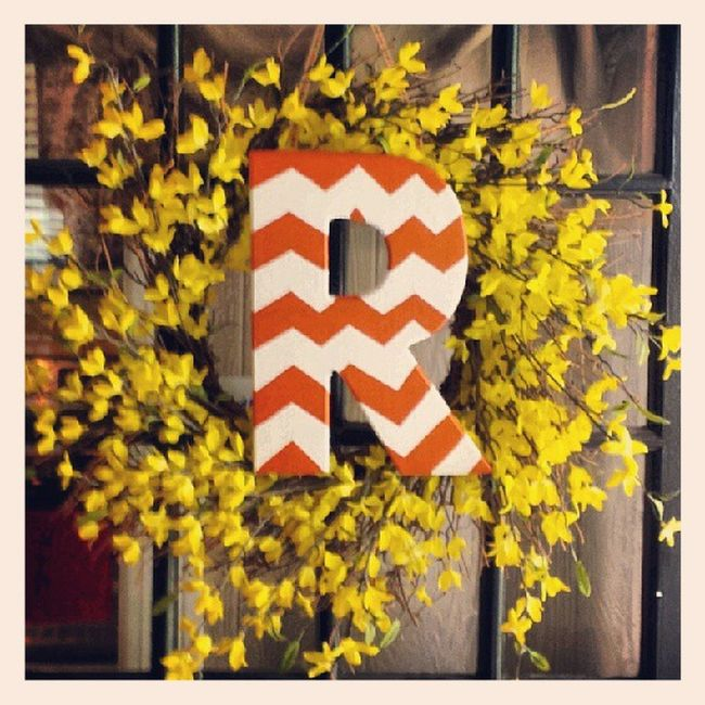 DIY Fall monogram :)