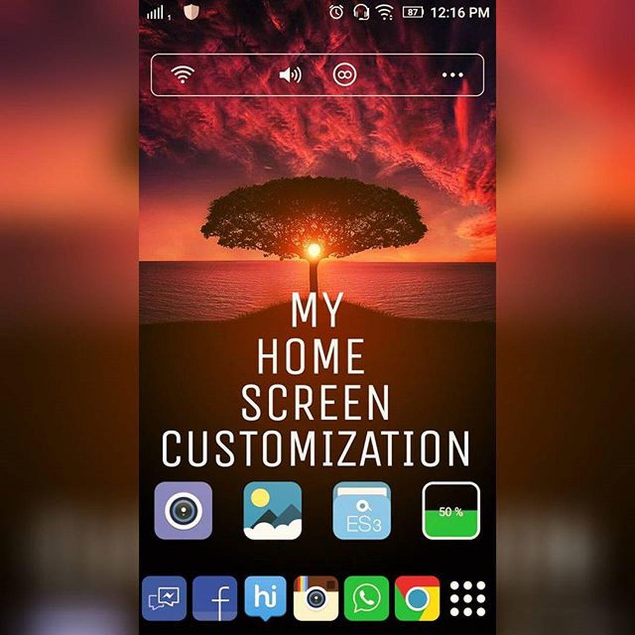Homescreenchallenge Customization what's ur Customization...??? Lenovo Linelauncher