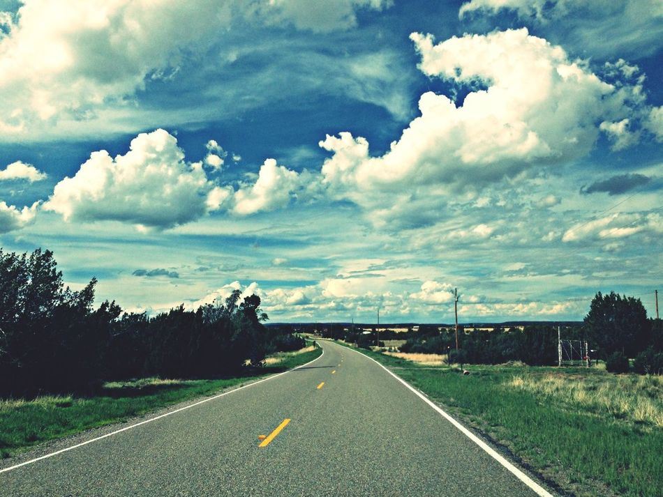 Life goes on... mile after mile after mile. Cloud Chasing Clouds And Sky On The Road Newmexico