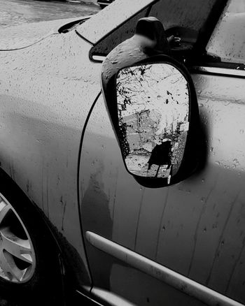 Hello World Hows your day? As you can see my day is not very Good. Check This Out Broken Shredded Sidemirror Carwreck Glass Disturbing Photo HeartBreaking Heartbroke Depressed Blackandwhite Photography Bnw_collection Bnw_captures Bnw_europe EyeEm Bnw Toobad Toobadsosad Car