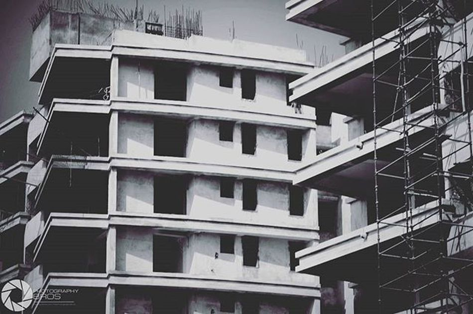200thpost Architecture Building Raipur India Underconstruction  Monochrome Grayscale Bnw Gingham Fade Bnw_lovers Bnw_life Bnw_society Bnw_captures Monochromelovers Canon Photography Canon_photos 1200D 300mm Photography_love Photographyislife Instadaily Photographybros