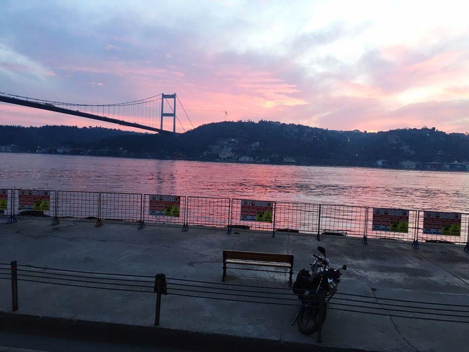 Birsabah İstanbul la göz göze gelmiştik Transportation Cloud - Sky Connection Outdoors Water Sunset Bridge - Man Made Structure Built Structure No People Nature Suspension Bridge Architecture Day Istanbuldayasam Istanbul