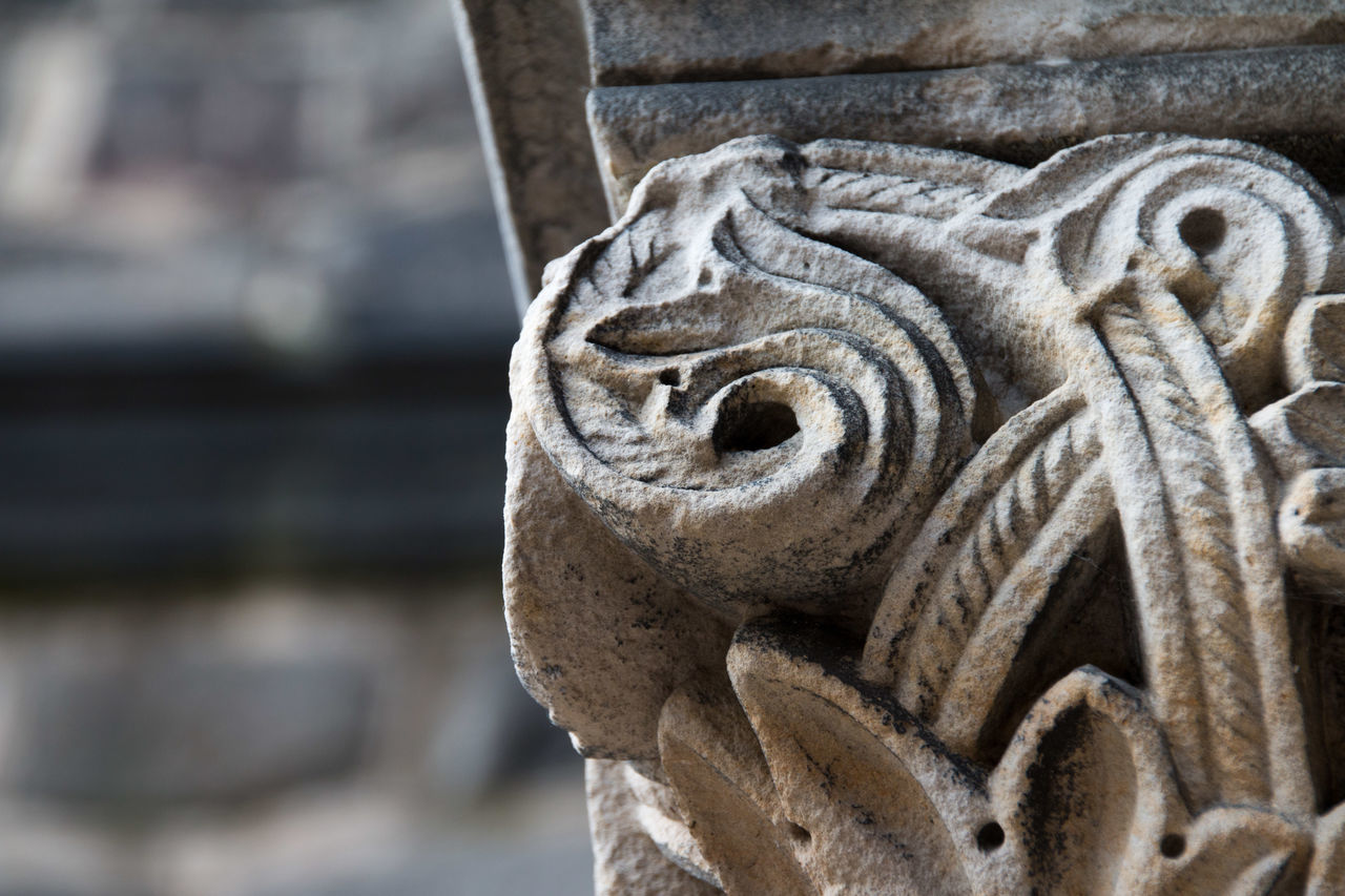 Detailed Shot Of Stone Carving