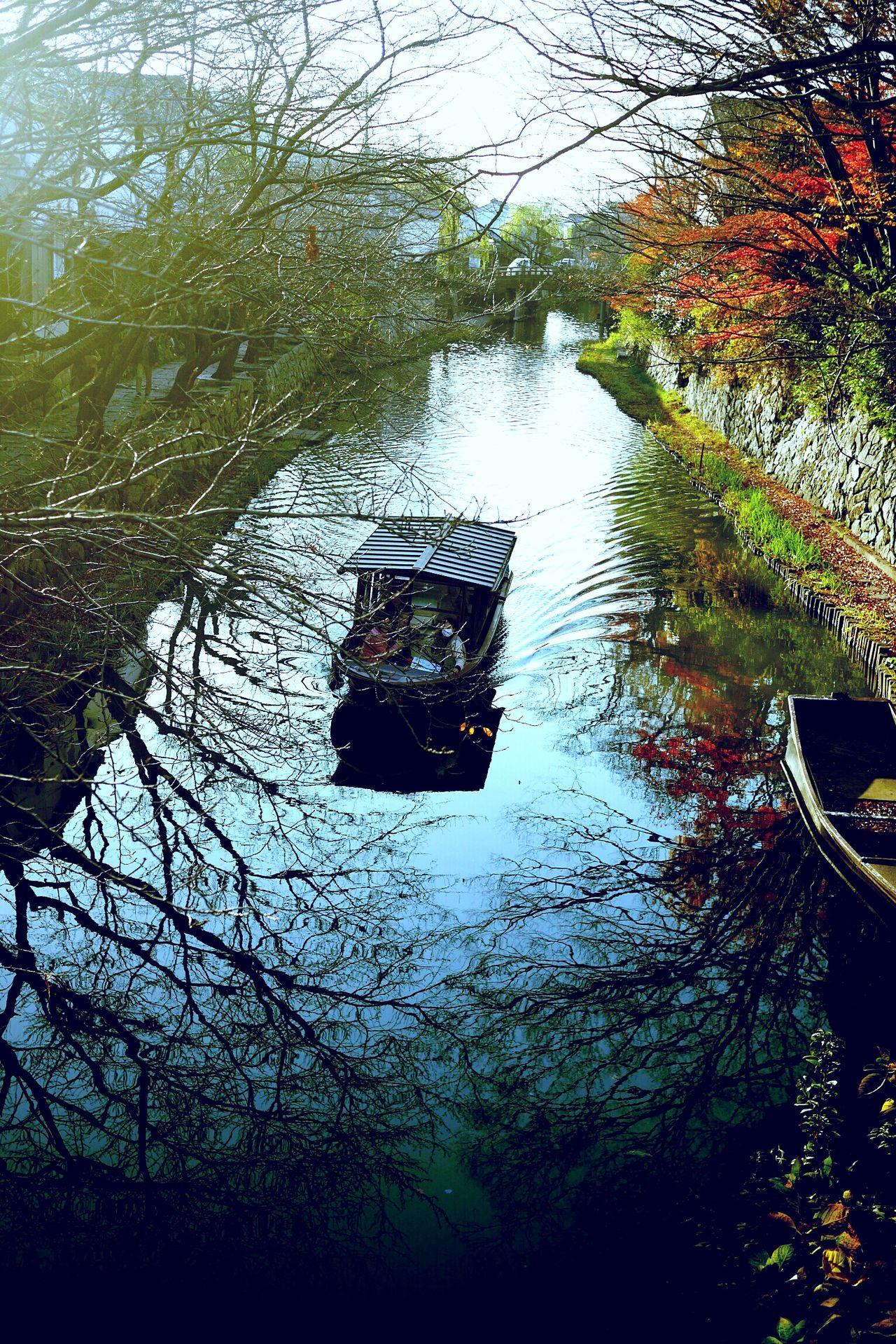 Boat Waterway Winter Sightseeing Ōmihachiman Shiga,Japan